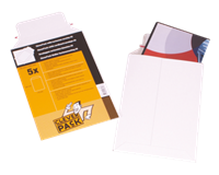 Cleverpack Envelop  A5 176x250mm karton wit 5stuks