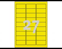 Avery Etiket  L6004-25 63.5x29.6 neon geel 675stuks
