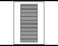 Avery Etiket  L7170-25 134x11mm wit 600stuks