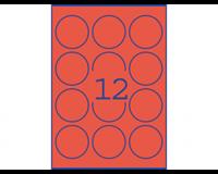 Avery Etiket  L7670-25 63.5mm rond neon geel 300stuks