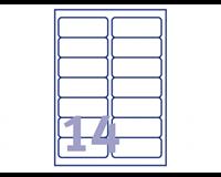 Avery Etiket  LR7163-100 99.1x38.1mm recycled wit 1400stuks