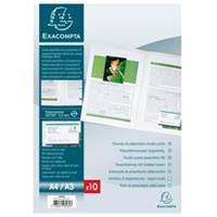 Exacompta Tweezijdige presentatiemap - halfharde kaft in polypropyleen 4/10de - A4 (3962E)