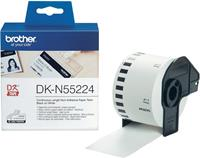 Brother DK-N55224 niet klevende papiertape wit 54mm x 30,48m (origineel)