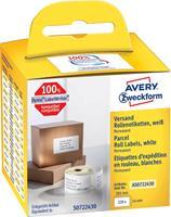 Avery Zweckform Avery-Zweckform Etiketten (rol) 101 x 54 mm Papier Wit 220 stuks Permanent AS0722430 Verzendetiketten