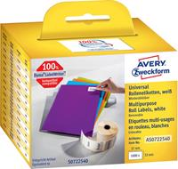 Avery Zweckform Avery-Zweckform Etiketten (rol) 57 x 32 mm Papier Wit 1000 stuks Weer verwijderbaar AS0722540 Universele etiketten