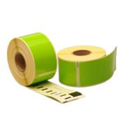 Dymo 99012 compatible labels, 89mm x 36mm, 260 etiketten, groen