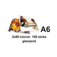 GBC Lamineerhoes  A6 2x80micron 100stuks