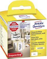 Avery Zweckform Avery-Zweckform Etiketten (rol) 57 x 32 mm Folie Wit 400 stuks Permanent A1933084 Universele etiketten