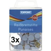 Toppoint 300x punaises in doosjes wit