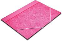 Pergamy Mandala elastomap met kleppen, ft A4, roze