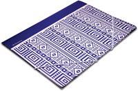 Pergamy Ethnic elastomap met kleppen, ft A4, blauw