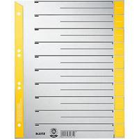 LEITZ® Kartonnen tabbladen met gekleurde tabs, te snijden, A4