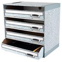 Fellowes ordneropbergsysteem Bankers Box met 4 vakken, ft 40 x 29 x 40,5 cm