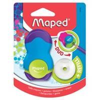 Maped potloodslijper + gom Loopy Soft Touch, blister met 1 stuk