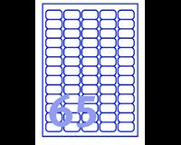 Etiket Avery L7551-25 38.1x21.1mm transparant 1625stuks