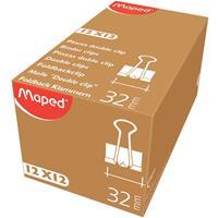 Maped foldbackclip 32 mm, zwart, doos van 12 stuks