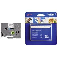 Labeltape Brother TZe, TZ TZe-231S Tapekleur: Wit Tekstkleur:Zwart 12 mm 4 m