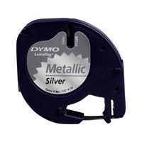 dymo LetraTag labeltape Zilver metallic
