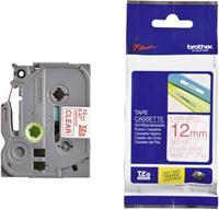 Brother TZe-132 tape rood op transparant 12mm x 8m (origineel)