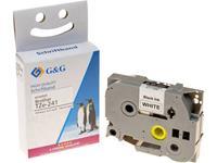 Labeltape G&G Tapekleur: Wit Tekstkleur: Zwart 18 mm 8 m