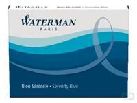 Waterman Vullingen Vulpen Kort Blauw (pak 6 stuks)