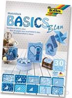 Folia Motiefpapier Basics blauw