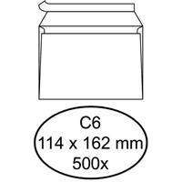 Quantore 500 Witte zelfklevende enveloppen C6 114 x 162 mm