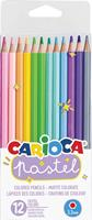 Carioca kleurpotloden Pastel, 12 stuks in blister