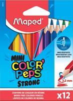 Maped kleurpotlood Color'Peps Mini Strong, 12 potloden in een kartonnen etui