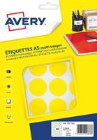 Avery PET30J ronde markeringsetiketten, diameter 30 mm, blister van 240 stuks, geel