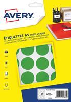 Avery PET30V ronde markeringsetiketten, diameter 30 mm, blister van 240 stuks, groen