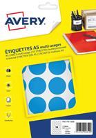Avery PET30B ronde markeringsetiketten, diameter 30 mm, blister van 240 stuks, lichtblauw