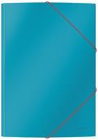 Leitz Cosy elastomap met 3 kleppen, uit karton, ft A4, blauw