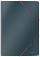 Leitz Cosy elastomap met 3 kleppen, uit karton, ft A4, grijs