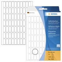 herma Multifunctionele Etiketten 2320 Wit Rechthoekig 8 x 20 mm 32 Vellen van 70 Etiketten