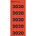 leitz Ordnerrugetiketten 2020 Rood 100 Stuks à 10 Etiketten 6 x 2,55 cm