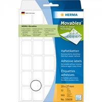 herma Multifunctionele Etiketten 10608 Wit Rechthoekig 19 x 27 mm 32 Vellen van 30 Etiketten
