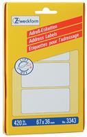AVERY Zweckform 3345 Adresetiketten Wit 95 x 48 mm 94 Vellen à 3 Etiketten
