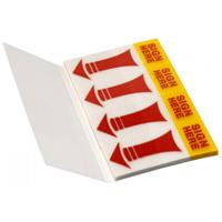 Info Notes Info Page Markers film brilliant 20x50mm, transparant met geel/rood uiteinde