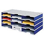 Styro styrodoc trio Sorteerstation Grijs, blauw C4 72,3 x 33,1 x 29,3 cm