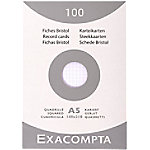 Exacompta 13208E Indexkaarten Wit A5 Geruit Karton 21 x 14,8 cm 100 Stuks