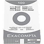 Exacompta Bristol Indexkaarten Wit A6 Geruit Karton 10,5 x 14,8 cm 100 Stuks