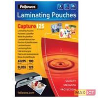 Fellowes Glossy Pouches 65 x 95mm 100 pcs. 125 mµ