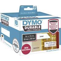 dymo Rol met etiketten 89 x 25 mm Polypropileen folie Wit 700 stuk(s) Permanent 1933081 Universele etiketten, Adresetiketten