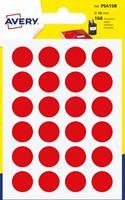 Avery PSA15J ronde markeringsetiketten, rood, 7 vel, 168 per vel