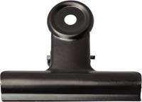 LPC Bulldogclip 38 mm, zwart, doosje van 10