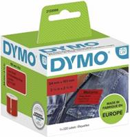 DYMO 101 x 54 mm Rood 1 stuk(s) 2133399 Verzendetiketten, Etiketten voor naambordjes