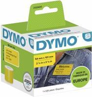 DYMO 101 x 54 mm Geel 220 stuk(s) 2133400 Verzendetiketten, Etiketten voor naambordjes