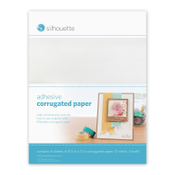 Silhouette - Adhesive Corrugated Paper, 6 sheets (MEDIA-COR-ADH)