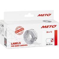 METO Prijslabels 9506163 Permanent Breedte etiket: 26 mm Hoogte etiket: 12 mm Wit 1 stuk(s)